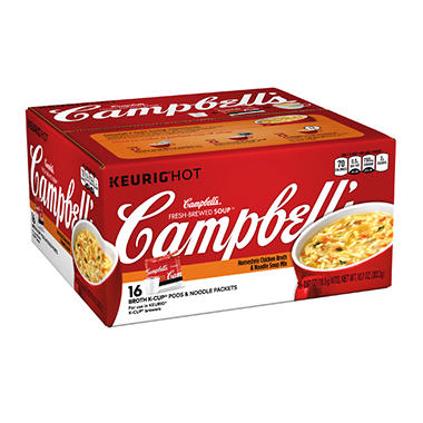 Campbell's Chicken Broth and Noodle Soup KCup (.67 oz, 16 ct.)