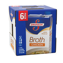 Swanson Chicken Broth (32 oz. carton, 6 ct.)