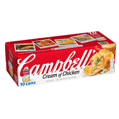 Campbell's Condensed Cream of Chicken Soup (10.5 oz. ea., 10 pk.)