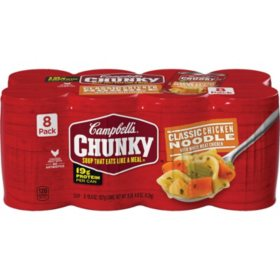Campbell's® Chunky™Classic Chicken Noodle Soup (18.6 oz., 8 pk.)
