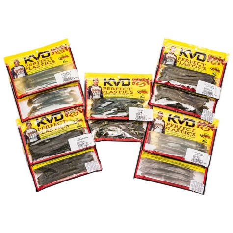 Strike King KVD Perfect Plastics Fishing Bundle
