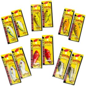 Red Eyed Shad 12-Piece Fishing Lure Bundle