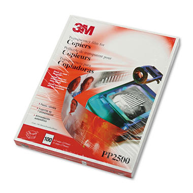 3M PP2500 Plain Paper Copier Transparency Film