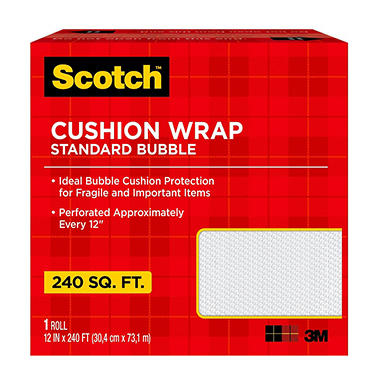 Scotch Cushion Bubble Wrap, 12