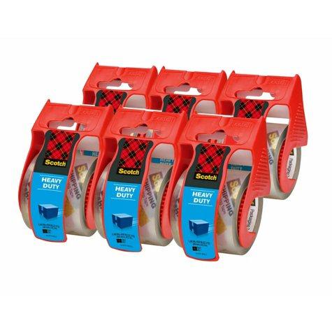 "Scotch 3850 Heavy Duty Shipping Tape & Dispensers, 2"" x 27.7 yds, 6pk."