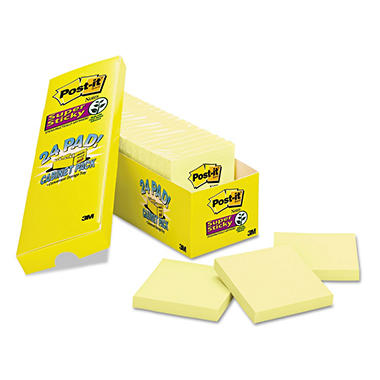 Post-it Notes Super Sticky Pads, 3