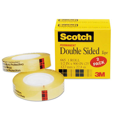 Scotch - 665 Double-Sided Tape, 1/2
