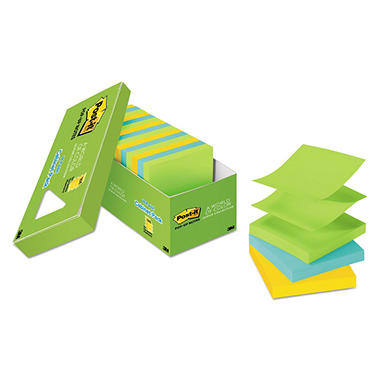 Post-it Pop-up Notes - Original Pop-up Refill, 3 x 3, Jaipur, 100/Pad -  18 Pads/Pack