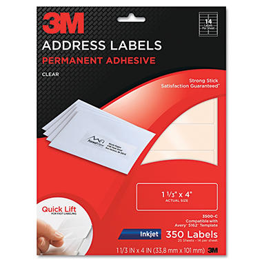 3M Permanent Adhesive Clear 1 1/3
