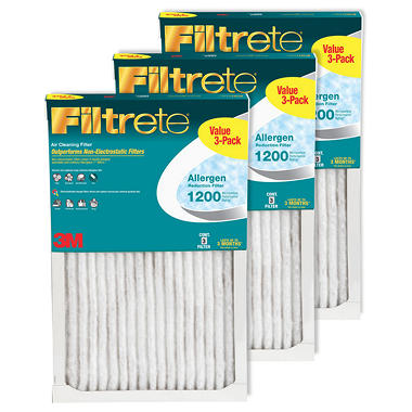 Filtrete Allergen Reduction 3 Pack Filters - 12 in x 24 in x 1 in