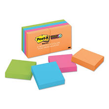 Post-it Notes Super Sticky - Pads in Rio de Janeiro Colors, 2 x 2, 90/Pad -  8 Pads/Pack
