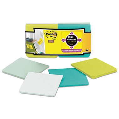 Post-it Notes Super Sticky - Full Adhesive Notes, 3 x 3, Assorted Bora Bora Colors -  12/PK