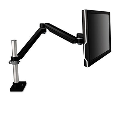 3M - Easy-Adjust Monitor Arm, 4 1/2 x 19 1/2 -  Black Gray