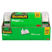 "Scotch® Magic Tape w/ Refillable Dispenser,  ¾"" x 850"", 6 Rolls"