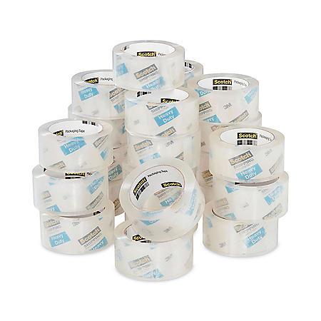 "Scotch 3850 Heavy-Duty Packaging Tape, 3"" Core, 1.88"" x 54.6 yds, Clear, 36/Carton"
