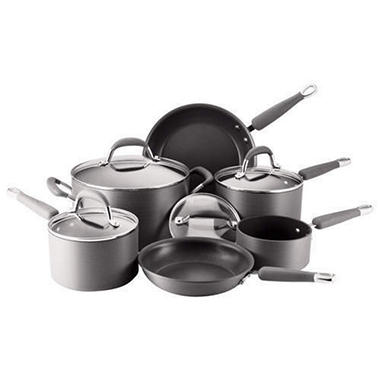 Kitchen Aid Hard Anodized Cookware Set - 10pc