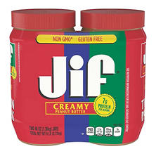 Jif Creamy Peanut Butter (2 jars, 48 oz. each)