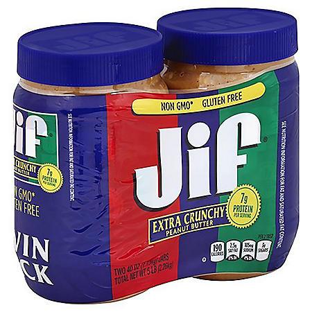 Jif Extra Crunchy Peanut Butter (40 oz., 2 pk.)