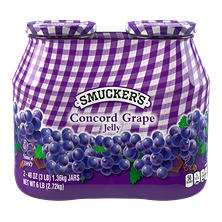 Smuckers Concord Grape Jelly (48 oz. jar, 2 pk.)