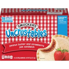 Smucker's Uncrustables Peanut Butter and Strawberry Jam Sandwiches (50.4 oz., 18 pk.)