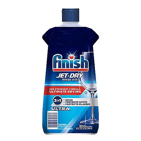 Finish Jet-Dry Ultra Rinse Aid Dishwasher Rinse Agent & Drying Agent (32 oz.)