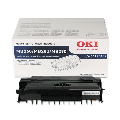 Oki MB200 Series Toner Cartridge, Black (5,500 Yield)