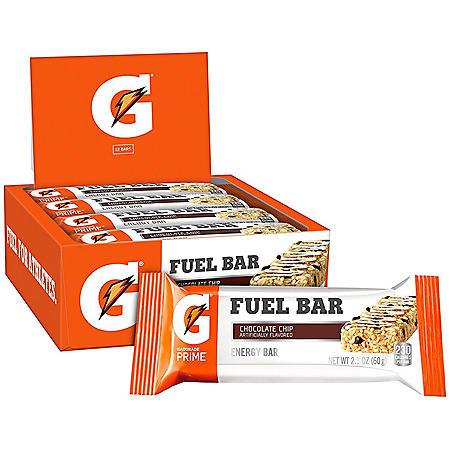Gatorade Prime Fuel Bars, Chocolate Chip (2.1 oz., 12 ct.)