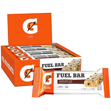 Gatorade Fuel Bar Energy Bars, Chocolate Chip (2.1 oz., 12 ct.)