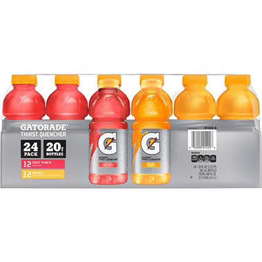 Gatorade Fruit Punch and Orange Pack  (20 oz. ea., 24 pk.)