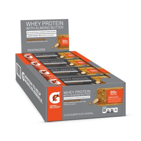 Gatorade Whey Protein with Almond Butter Bars (2.0 oz., 12 ct.)