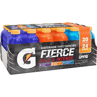 Gatorade Sports Drinks Fierce Variety Pack (20 oz. bottles, 24 ct.)