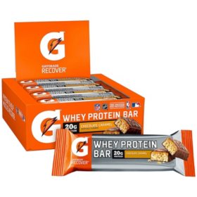 Gatorade Recover Whey Protein Bars, Chocolate Caramel (2.8 oz., 12 ct.)