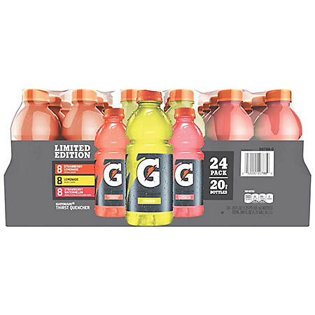Gatorade Lemonades Variety Pack (20 oz, bottles, 24 pk.)