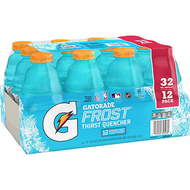 Gatorade Frost Glacier Freeze Thirst Quencher (32 fl. oz. bottles, 12 pk.)
