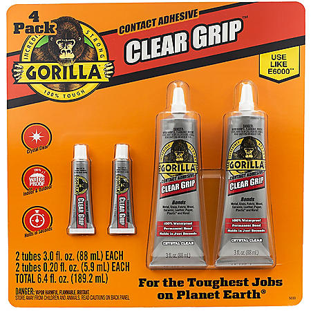Gorilla Clear Grip, 4 Pack