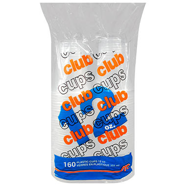Club Cups® 12 oz. Clear Plastic Cups - 160 ct.