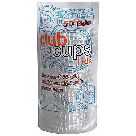 Club Cups 9 oz. & 10 oz. Clear Plastic Lids - 50 ct. - 10 pk.