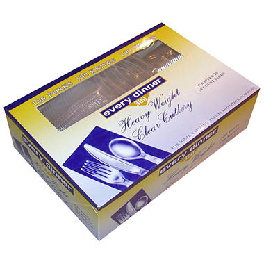 Every Dinner® Heavy Weight Clear Cutlery - 300 ct.