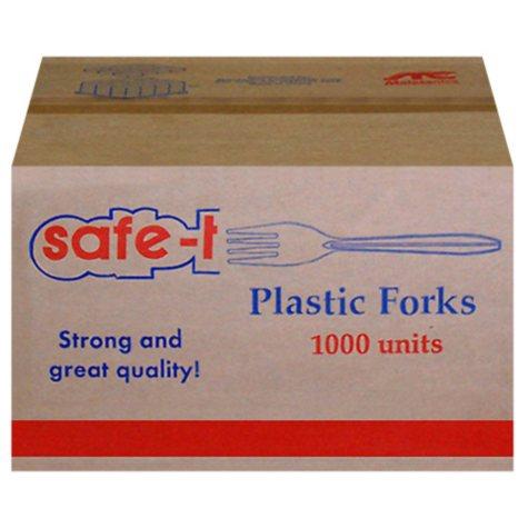 Safe-T Plastic Forks - 1000 ct.