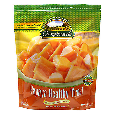 Campoverde Papaya Healthy Treat, Frozen (5 lbs)