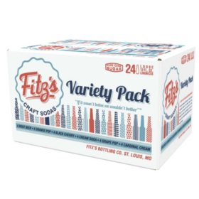 Fitz's Longnecks Variety Pack (12 oz. glass bottles, 24 pk.)