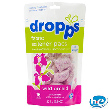 Dropps - Fabric Softener Pacs, Wild Orchid - 96 Loads