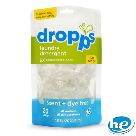 Dropps - Laundry Detergent Pacs, Scent + Dye Free - 120 Loads
