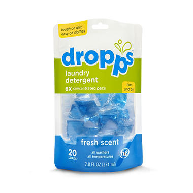 Dropps - Laundry Detergent Pacs, Fresh Scent - 120 Loads