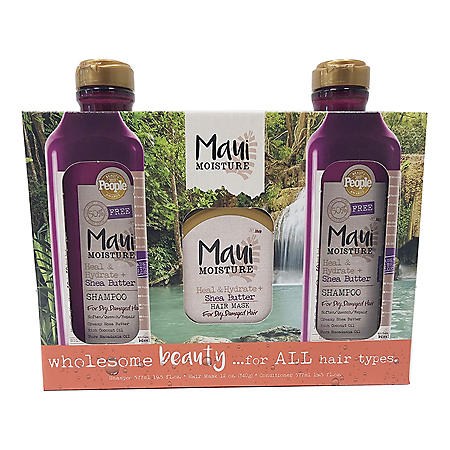 Maui Moisture Heal & Hydrate Triple Pack with Shampoo, Conditioner and Deep Conditioning Mask