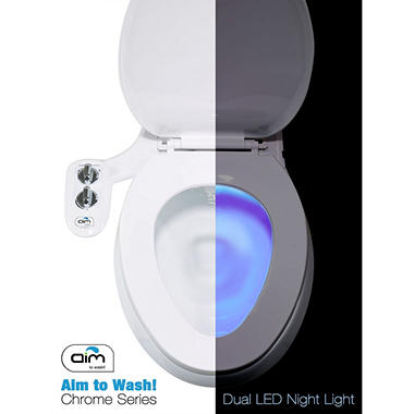 Aim to Wash! Bidet Attachment With Toilet Night Light