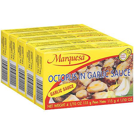 Marquesa Octopus in Garlic Sauce - 5/4.1 oz.