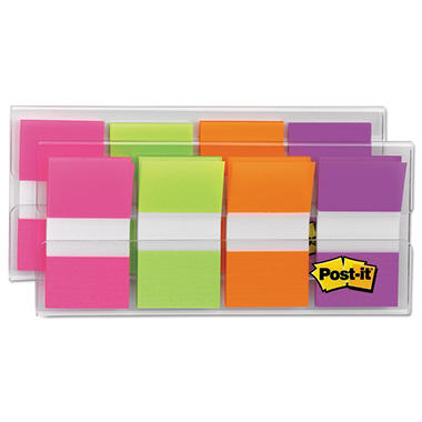 Post-it - Flags in Portable Dispenser - Bright - 160 Flags/Dispenser