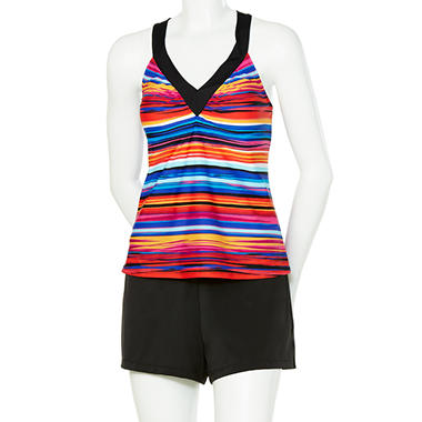 Watercolor Stripe Tankini