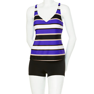 Crossback Tankini with Shorts